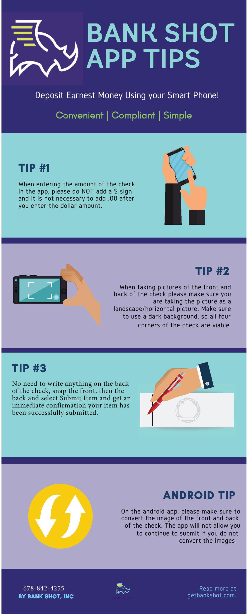 CloseTrak LLC Bank Shot One Page Instructions 2